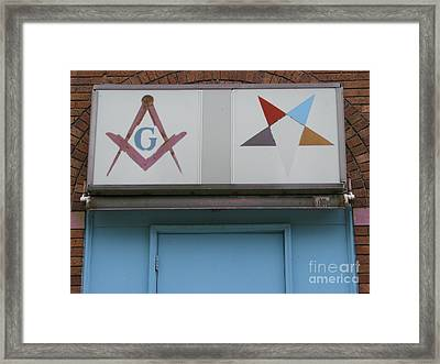 Freemasons Framed Print