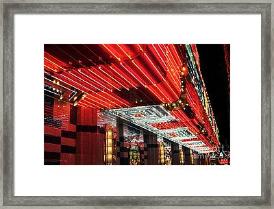 Freemont Neon Framed Print by John Rizzuto