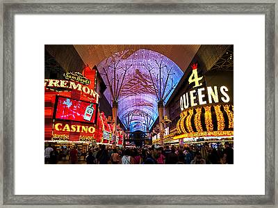 Freemont Street Experience - Downtown Las Vegas Framed Print