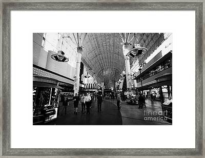 freemont street experience downtown Las Vegas Nevada USA Framed Print
