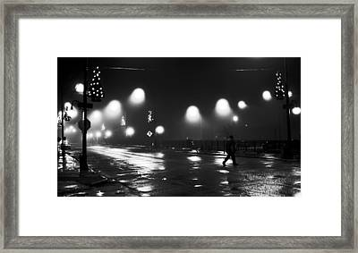 Freeport Illinois New Year's Eve 2010 Framed Print by Jon Van Gilder