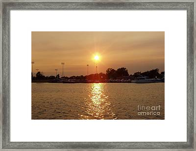Framed Print featuring the photograph Freeport Summer Sunset by John Telfer