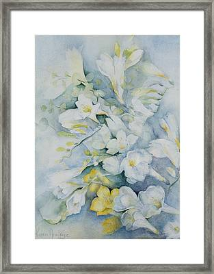 Freesia Eldus, Giant White Framed Print