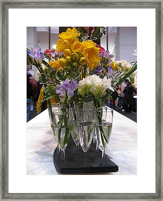 Freesia Still Life Framed Print by Alfred Ng