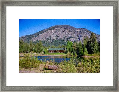 Freestone Inn Lakeside View Framed Print by Omaste Witkowski