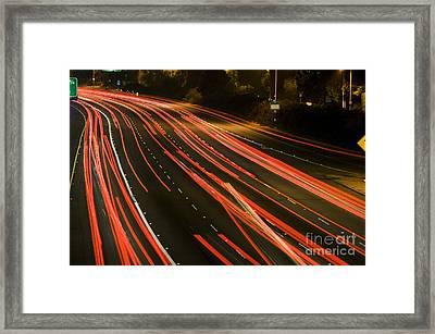 Freeway At Night 11 Framed Print by Micah May