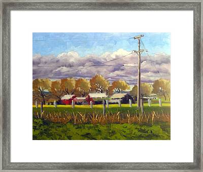 Freeway Farm Framed Print by Char Wood