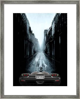 Freewill Framed Print by Bruce Iorio