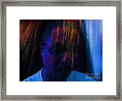 Freeze Brain Framed Print by Cedric Hampton