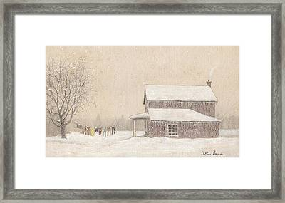Freeze-dried Laundry Framed Print by Arthur Barnes