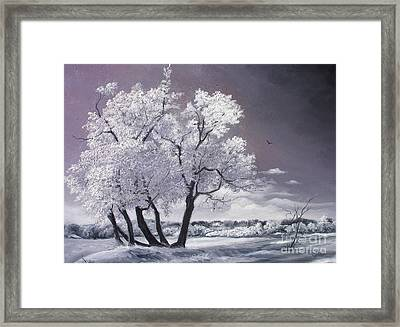 Framed Print featuring the painting Freeze by Sorin Apostolescu