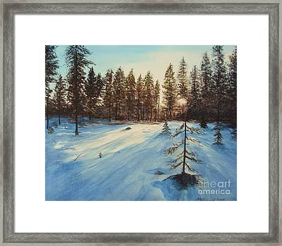 Freezing Forest Framed Print