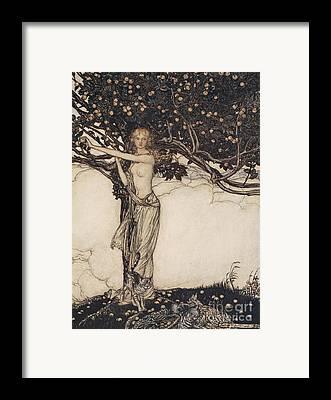 Goddess Drawings Framed Prints