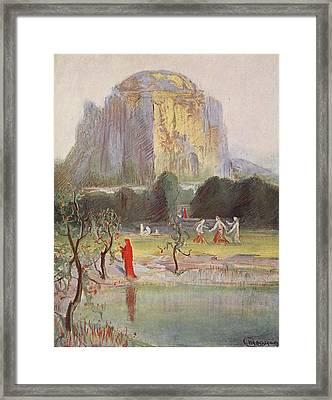 Freias Garden, 1906 Framed Print by Hermann Hendrich