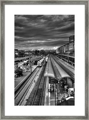Freiburg Hauptbahnhof  Framed Print by Carol Japp
