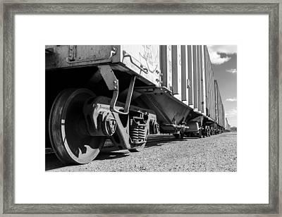 Big Train Rolling Framed Print