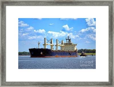 Freight Hauler Framed Print by Olivier Le Queinec