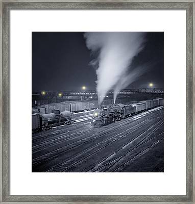 Freight Train About To Leave The Atchison Circa 1943 Framed Print by Aged Pixel
