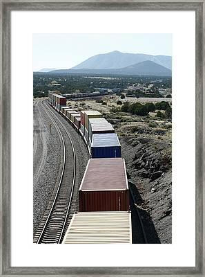 Freight Train Framed Print by Adam Hart-davis