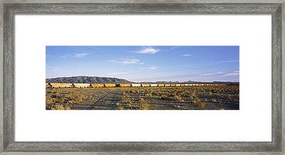 Freight Train In A Desert, Trona, San Framed Print by Panoramic Images