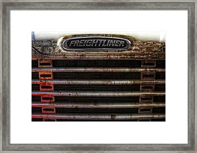 Freightliner Highway King Framed Print by Daniel Hagerman