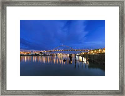 Fremont Bridge Blues Framed Print by David Gn