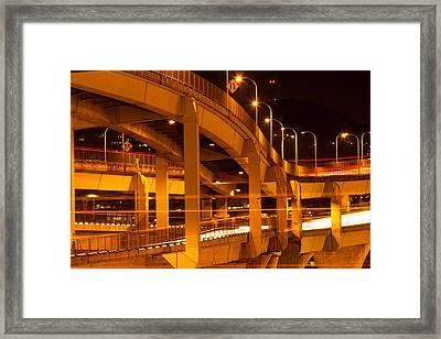 Fremont Bridge Framed Print
