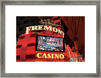 Fremont Casino Framed Print