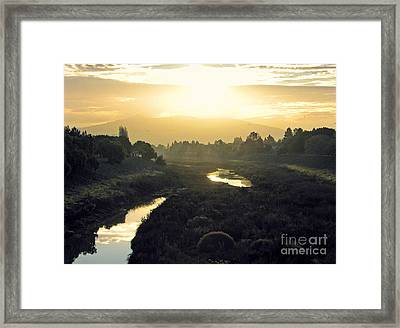 Framed Print featuring the photograph Fremont Dawn by Ellen Cotton
