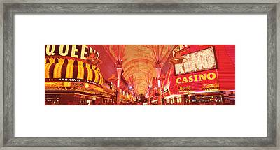 Fremont St Experience, Las Vegas, Nv Framed Print by Panoramic Images