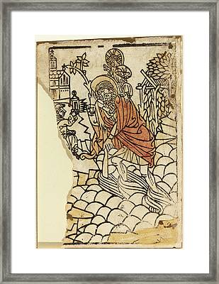 French 15th Century, Saint Christopher Recto Framed Print