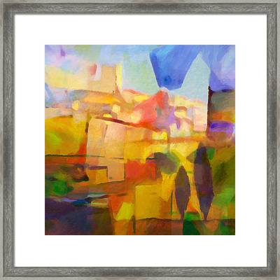 French Abstract Framed Print