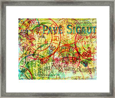 French Accent Framed Print