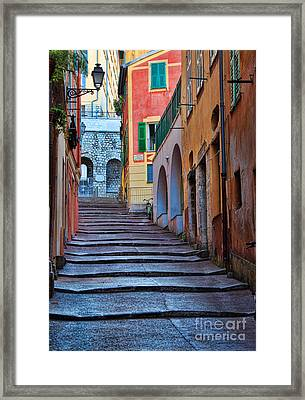 French Alley Framed Print by Inge Johnsson