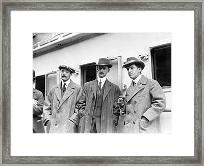 French And Us Aviation Pioneers, 1910 Framed Print
