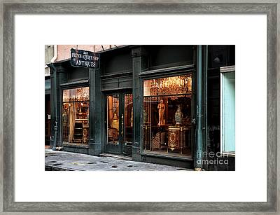 French Antiques Framed Print by John Rizzuto