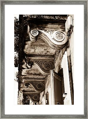 French Architecture - Toned Framed Print