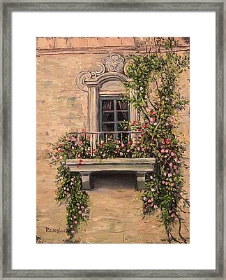 French Balcony Framed Print by Radoslav Nedelchev