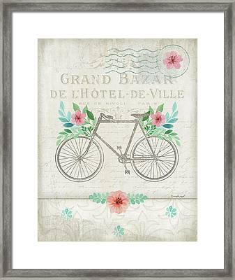 French Bike Framed Print