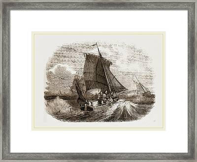 French Boat Angling For Mackerel Framed Print by Litz Collection