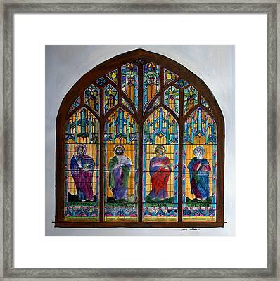 French Broad Baptist Church Framed Print by David Cardwell
