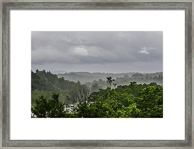 French Broad River Framed Print by Carolyn Marshall