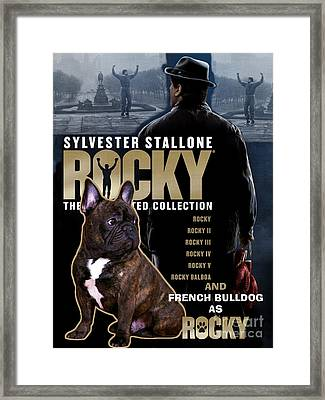 French Bulldog Art - Rocky Movie Poster Framed Print