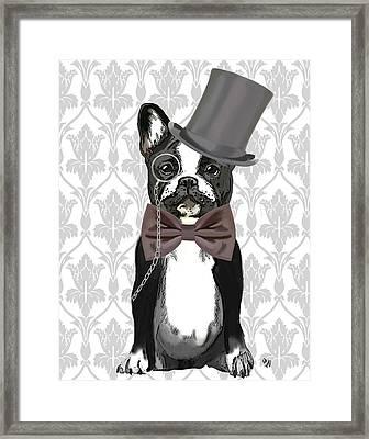 French Bulldog Monsieur Bulldog Framed Print