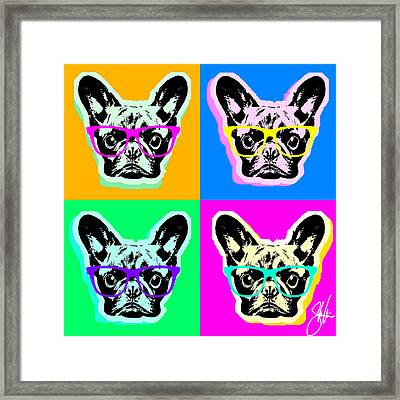 French Bulldog Pop Art Framed Print