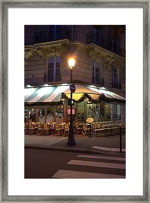 French Cafe Framed Print by Art Block Collections