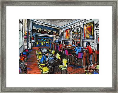 French Cafe Interior Framed Print