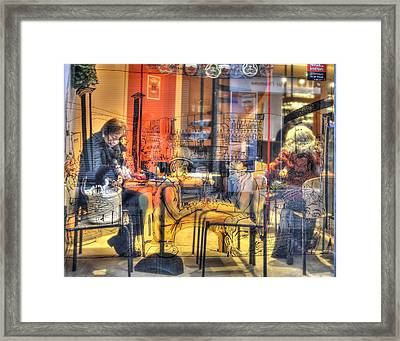 French Cafe Life Framed Print