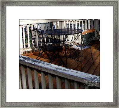 French Cafe Rural America  Framed Print