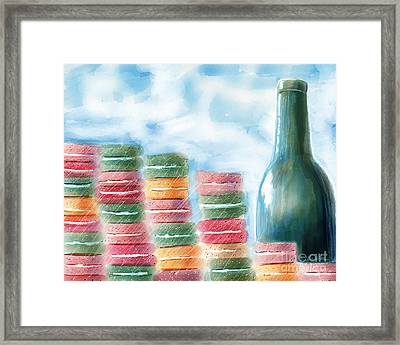 French Cafe Skyline Framed Print by Kim Niles